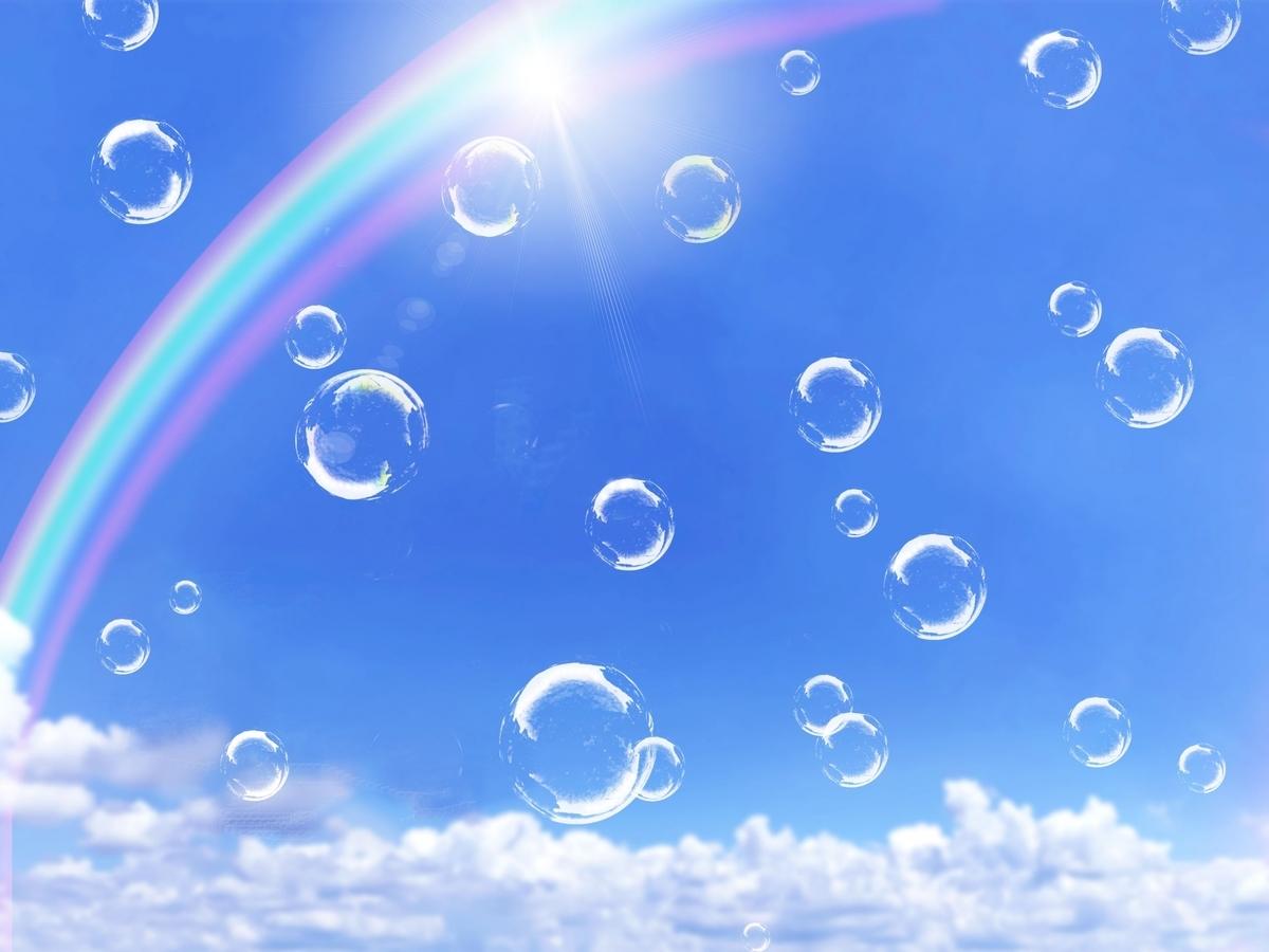 空と太陽と虹 Photo by photoAC