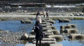 No.02 鴨川デルタの飛び石(2011/01/02)