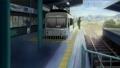 「けいおん!」第13話アバン:出町柳駅