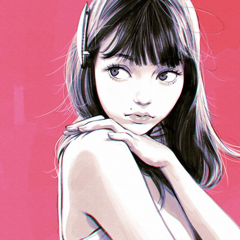 ロシア人イラストレーター Ilya Kuvshinov 氏日本風のイラストで有名