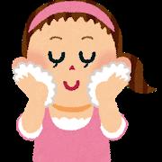 洗顔は、純石鹸で優しく洗う