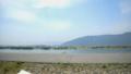 国営木曽三川公園(海津)を望む 木曽川左岸堤防