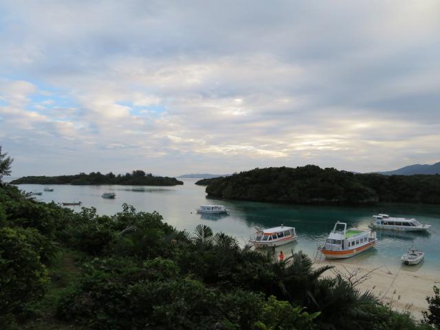 Kabira bay and glass boats