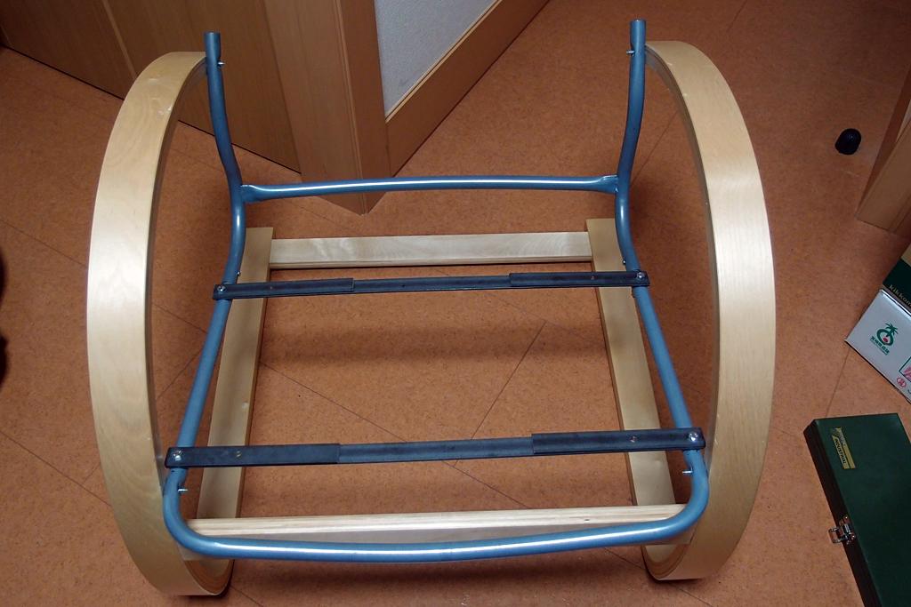 安楽椅子 パイプフレーム 木枠