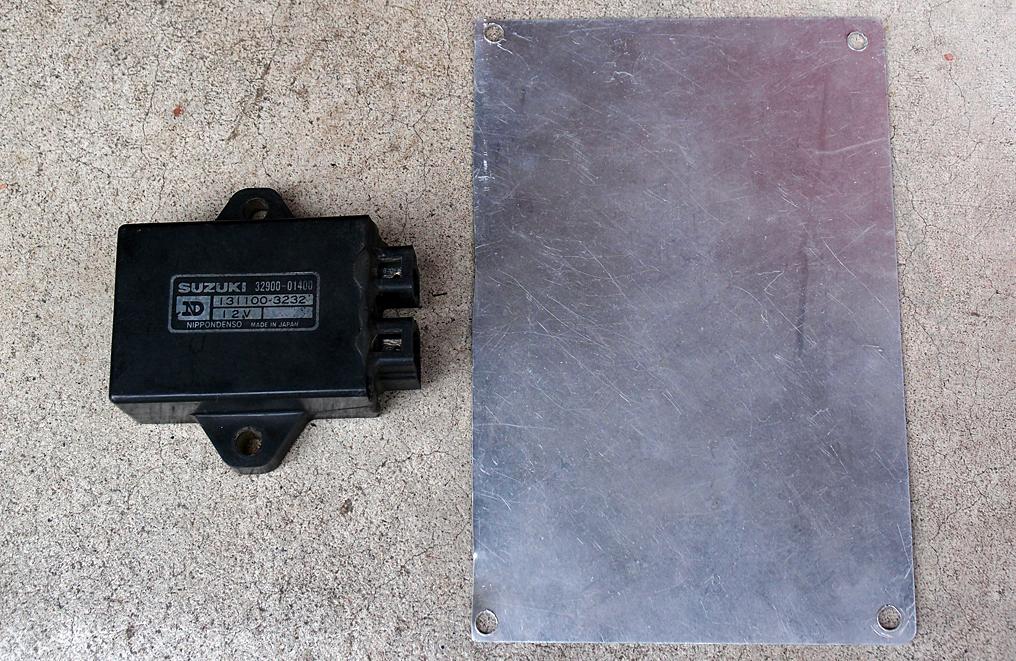 ジェンマ125用CDIとジャンク箱にあったアルミ板