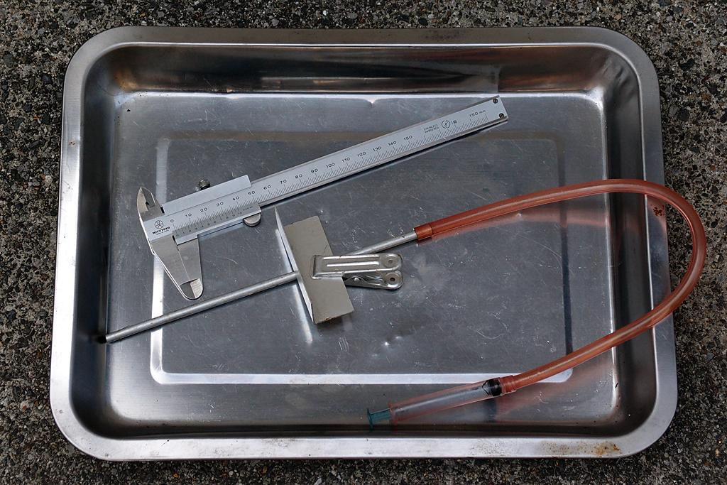 自作オイル油面調整用簡易工具