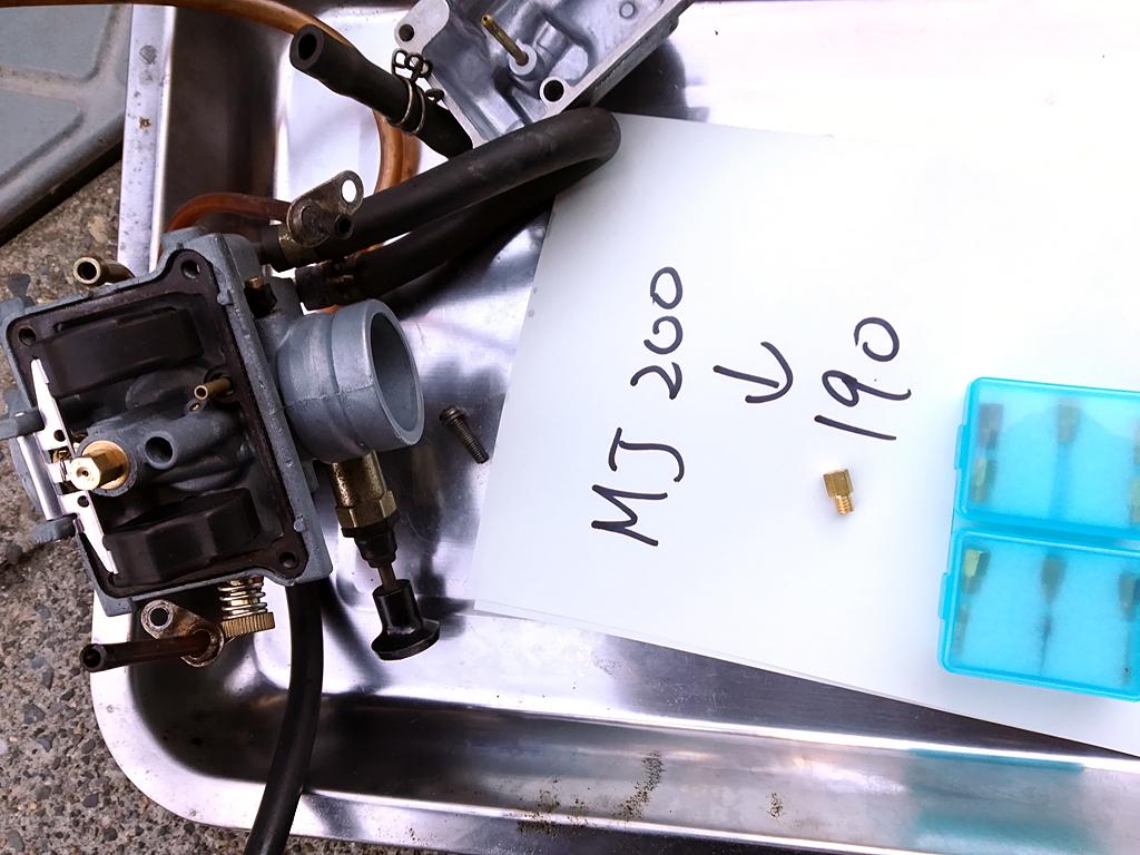 VM26SSキャブレターセッティングMJ190/NJ4/5