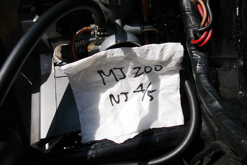 VM26SSキャブレターセッティングMJ200/NJ4/5
