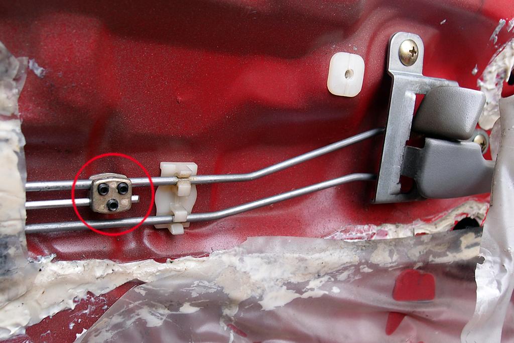 ロッドに取り付けたアダプターのイモネジが緩む