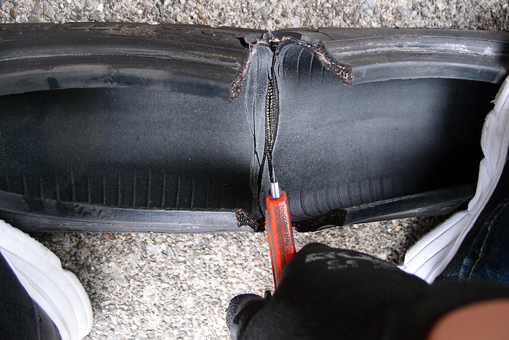 両足では中央部の盛り上がりに欠ける