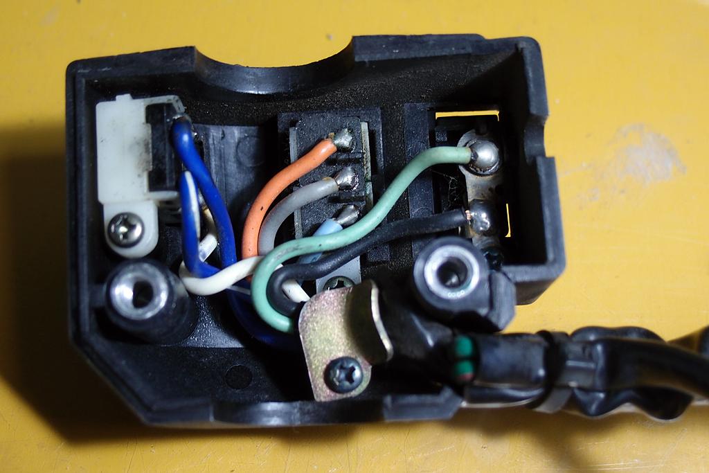 CBX125C用配線をCBX125F用に変更