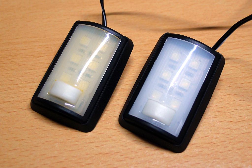 エーモン製ラゲッジルーム用LEDレンズカバーを加工