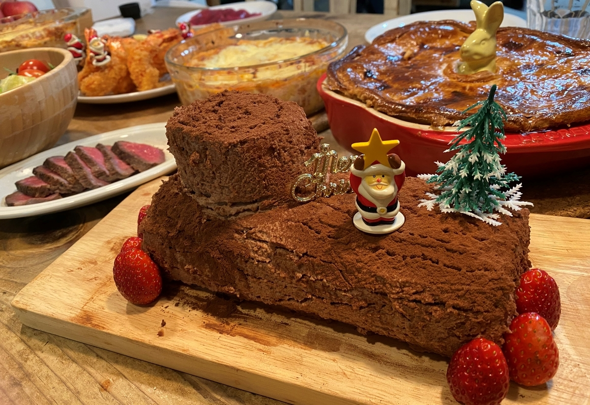 2020年クリスマスケーキはブッシュドノエル