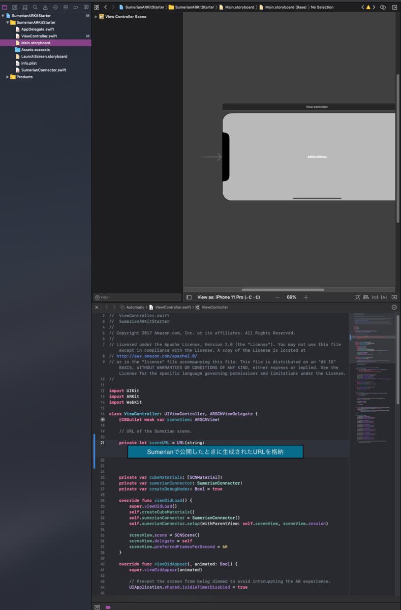 Xcode - URLを設定