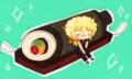 バースデー巻き寿司+リック