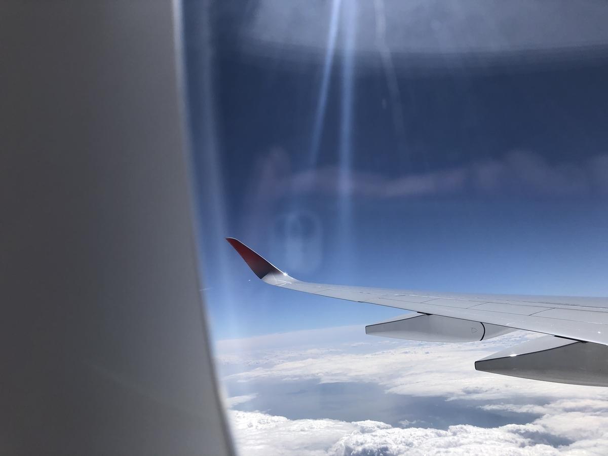 機窓から撮影した写真