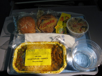 [Continental Air Vegetarian Lunch]