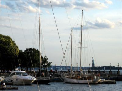 [NY Harbor Sunset][Hudson River]