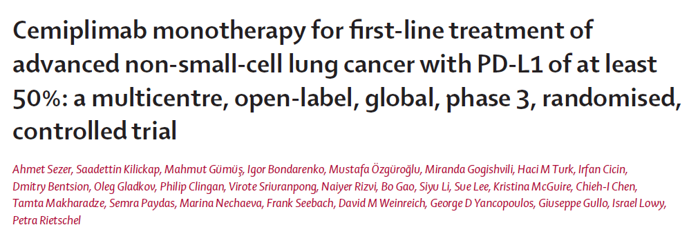 肺癌, 肺癌勉強会, セミプリマブ, EMPOWER-Lung1, cemiplimab