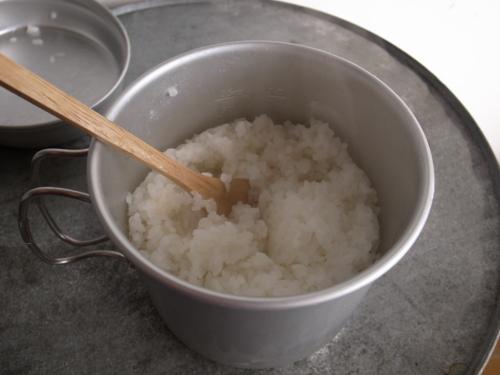 コッヘルで炊飯