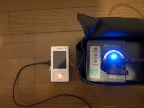 ポータブル電源で携帯充電