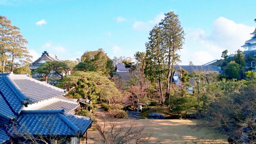 竹の丸和室からの風景