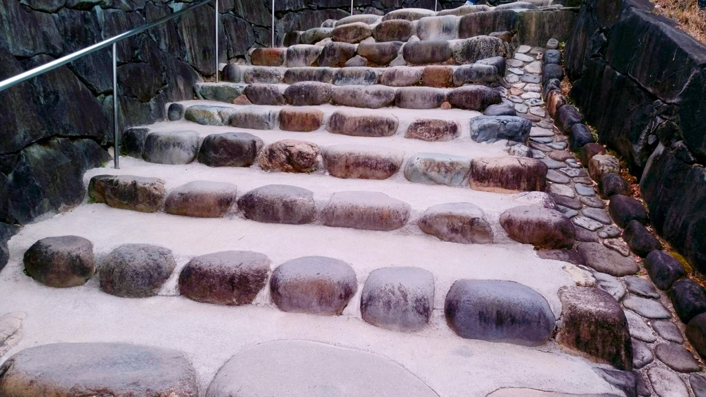 掛川城天守閣石段