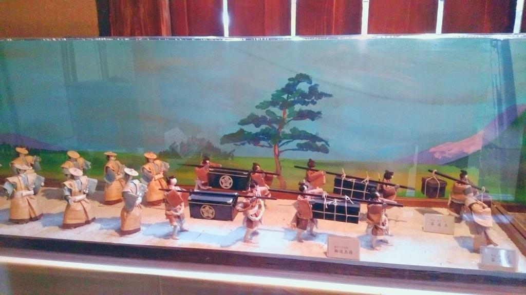 大名行列の人形