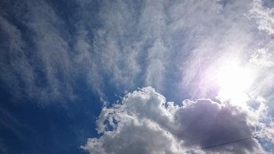 お天気よくて空がきれい