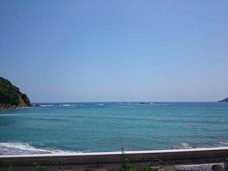 日陰で海を堪能