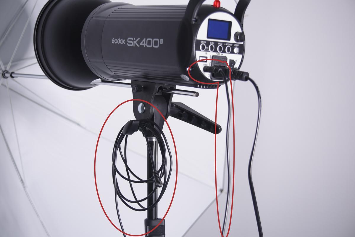 ストロボとカメラの同期のためのシンクロコード