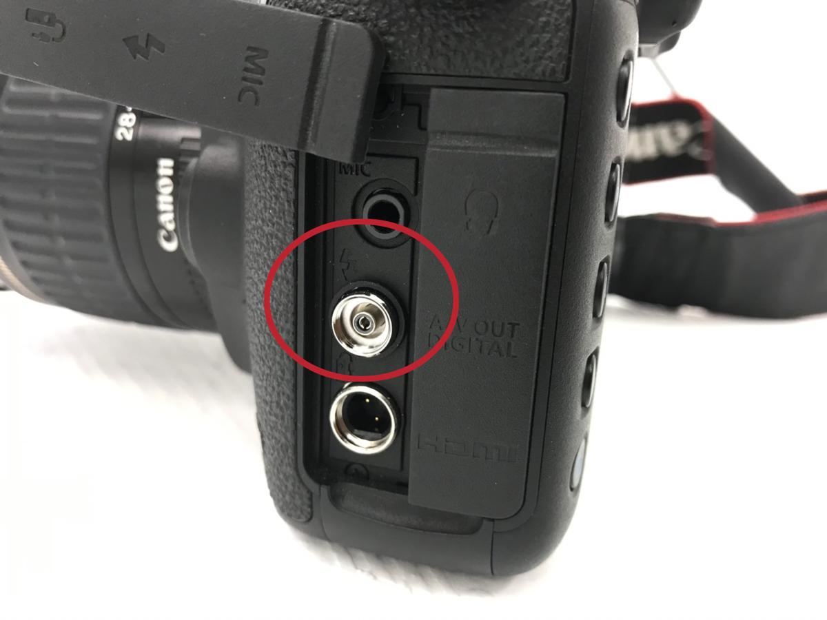 一眼レフカメラのシンクロ端子部分