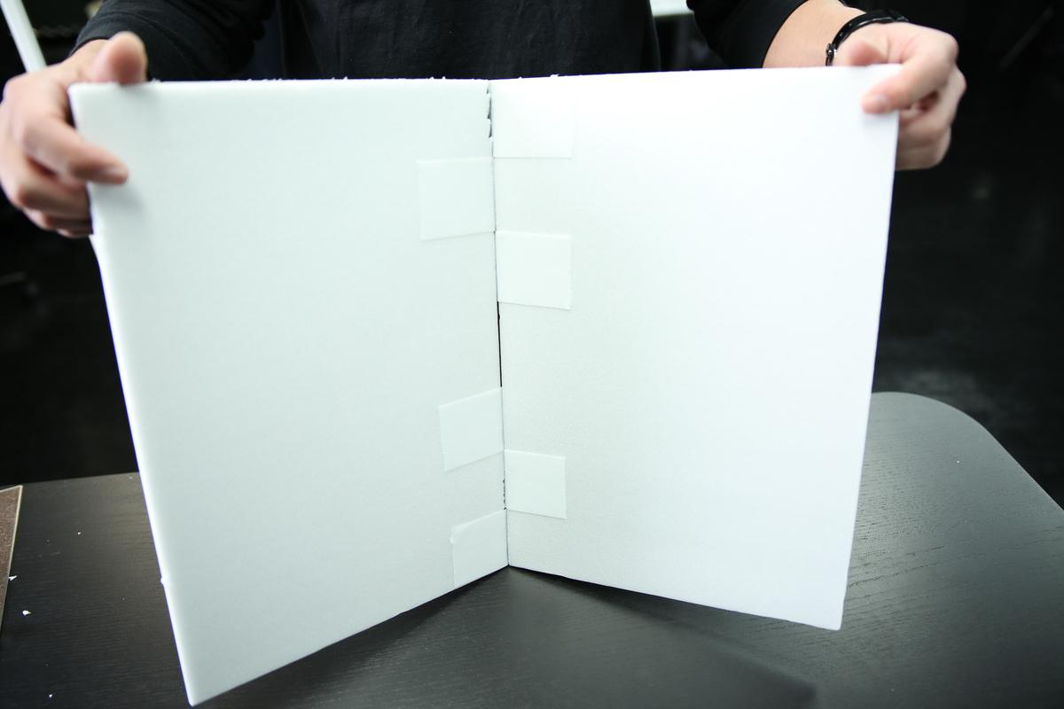 手作りカポックの完成した写真