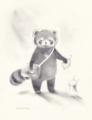 レッサーパンダの郵便屋さん。彼は今日もぶっきらぼうに手紙を配る。