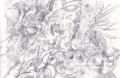 ジャンクの丘 鉛筆画
