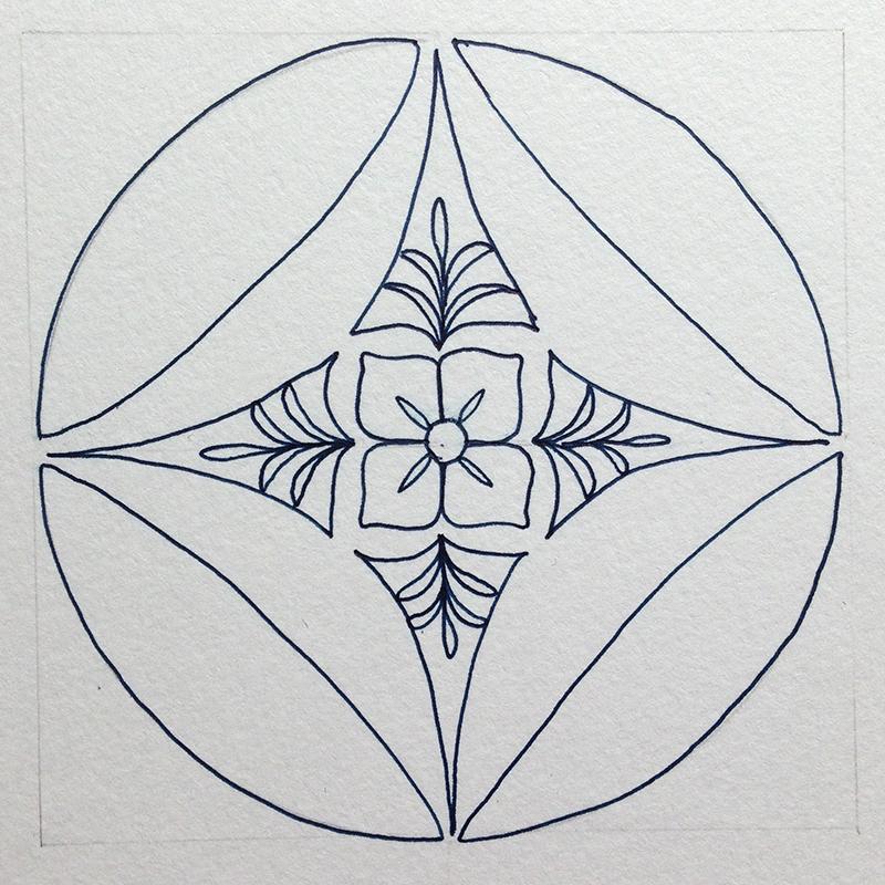 ゼンタングル・花