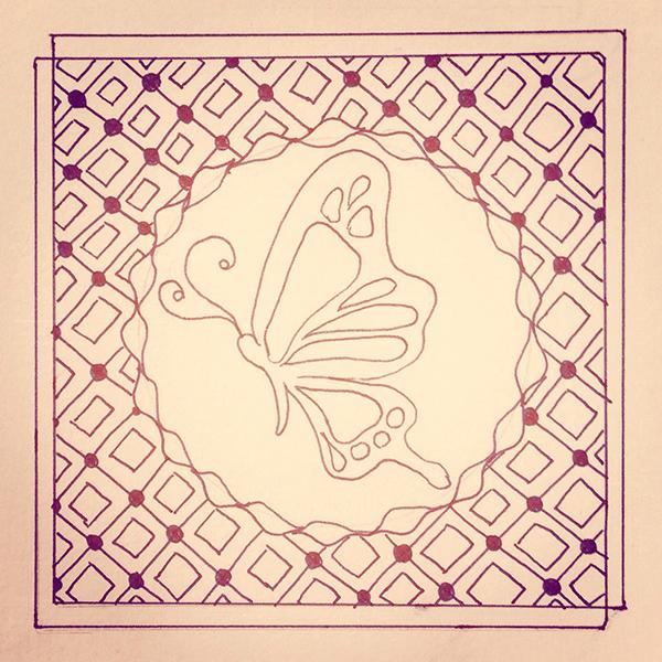 ゼンタングル・蝶々