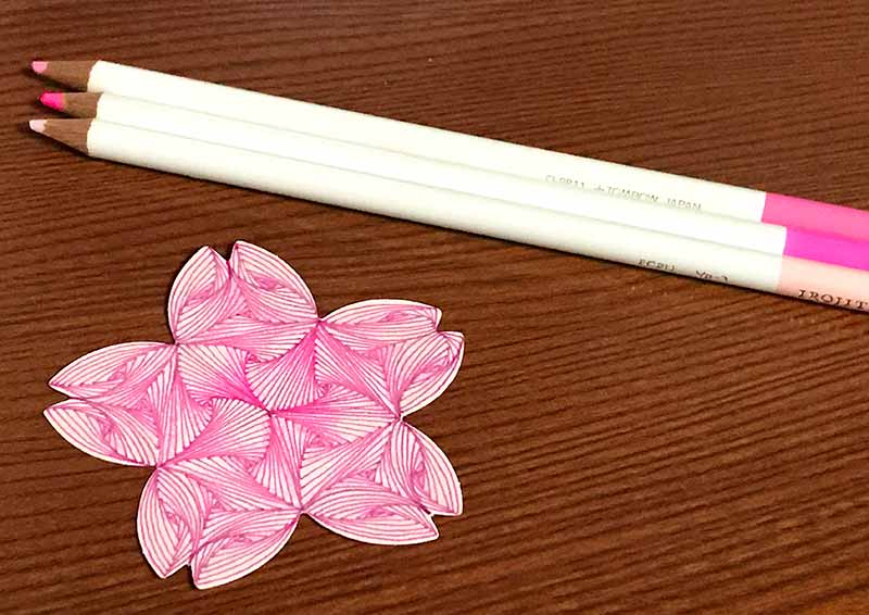 zentangle(ゼンタングル)と桜とparadox