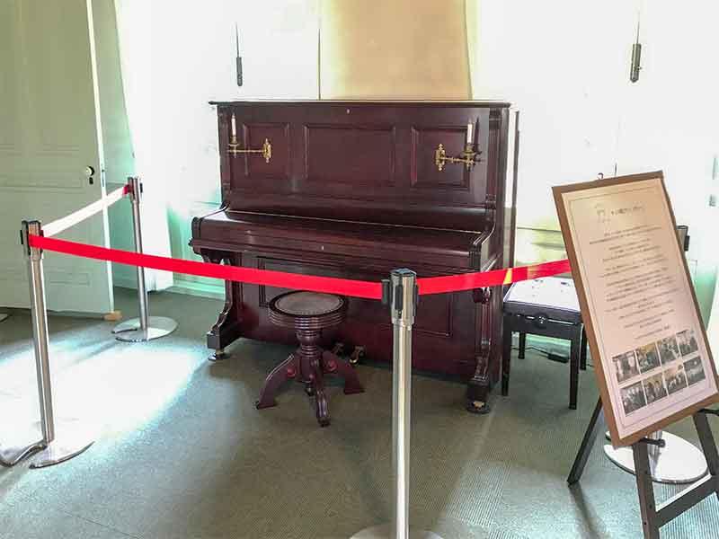 興雲閣(こううんかく)のチェコ製ピアノ・ノヴィー