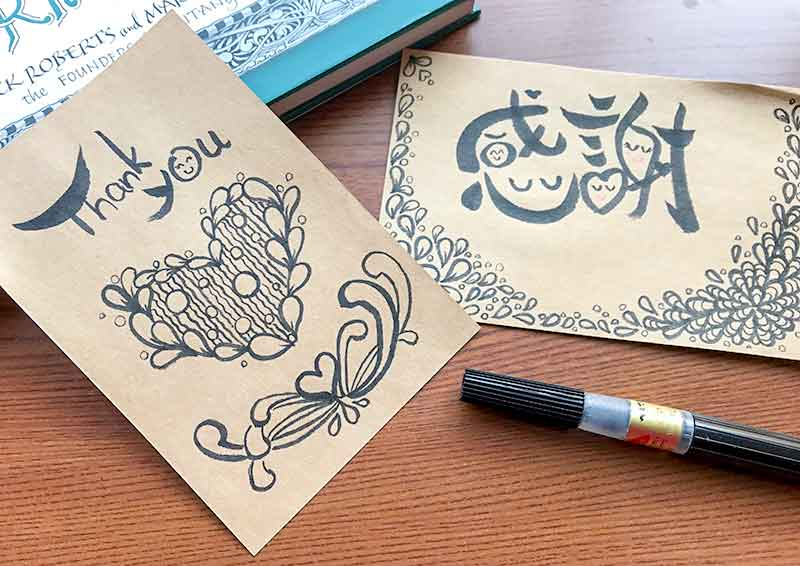 zentangle(ゼンタングル)と筆遊び