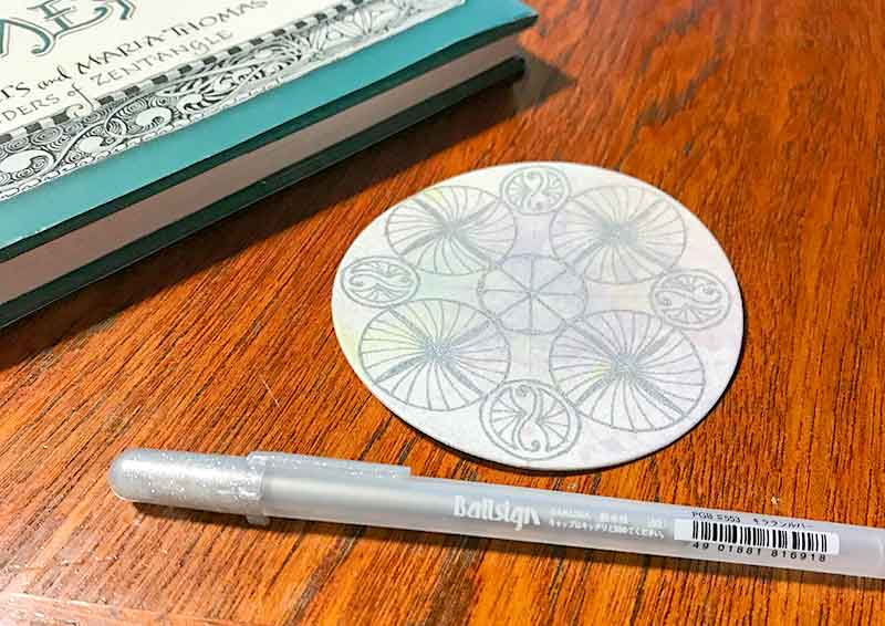 ゼンタングル(zentangle)バブルアートとレティキュラ&フラグメント
