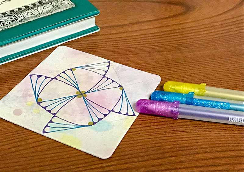 zentangle(ゼンタングル)とバブルアートとレティキュラ&フラグメント