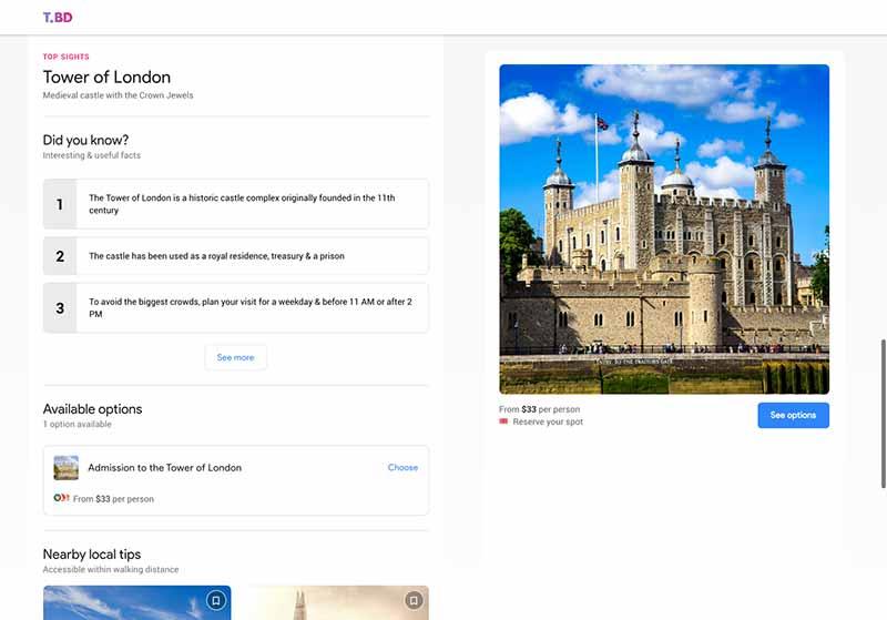Googleの新しい旅行情報サービス「Touring Bird」