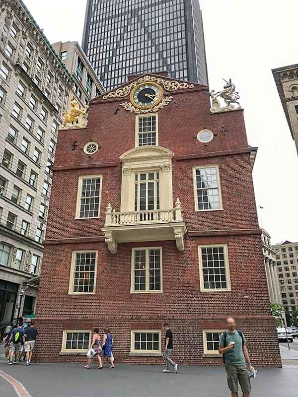 ボストン・フリーダムトレイル・旧マサチューセッツ州会議事堂 Old State House