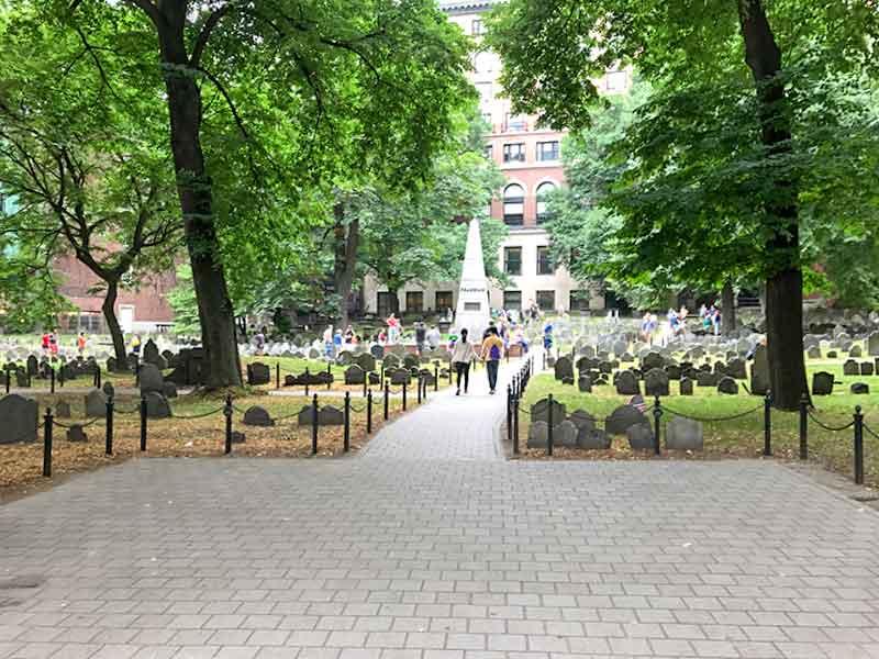 ボストン・フリーダムトレイル・グラナリー墓地(Granary Burying Ground)