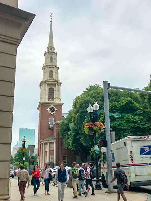 ボストン・フリーダムトレイル・パークストリート教会(Park Street Church)