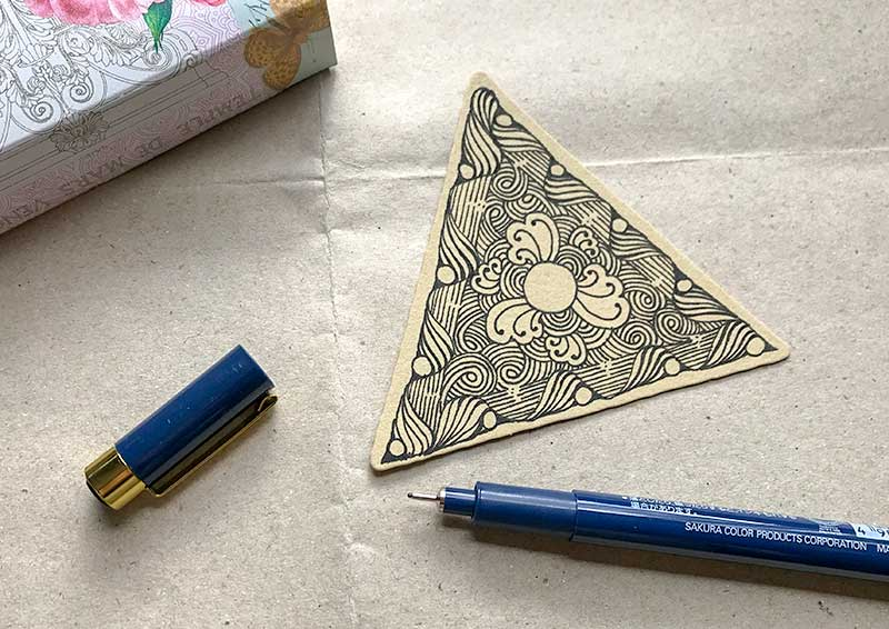 zentangle(ゼンタングル)Inktober tangles(インクトーバータングレス)