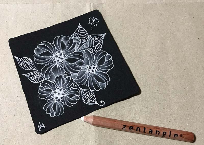 zentangle(ゼンタングル)ブラックタイル
