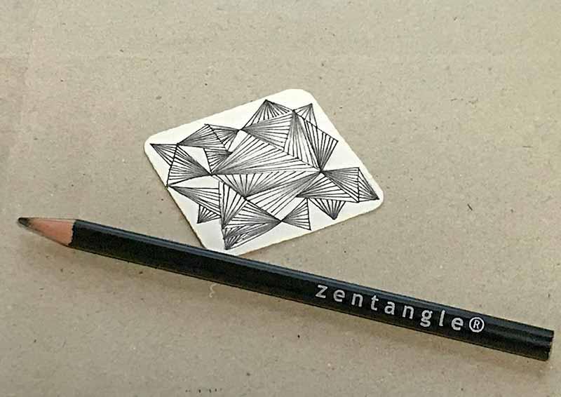 ゼンタングル(zentangle)ビジュータイルでモノタングル