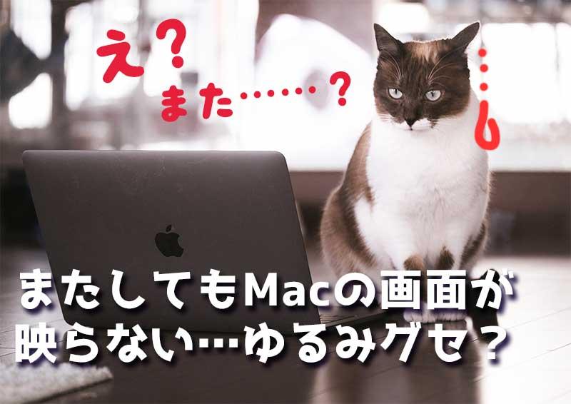 MacBookの画面が真っ暗で映らない
